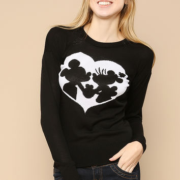 Mickey And Minnie Love Knit Top