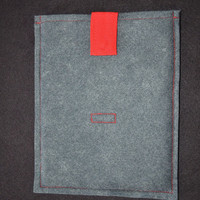 ipad Felted Sleeve Handmade Gray Reserved