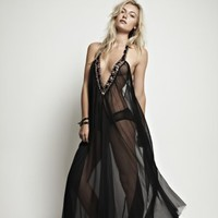 Ell & Cee Moonlight Jewel Maxi Dress - Nightwear from Glamorous Amorous UK