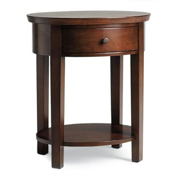 VALENCIA OVAL BEDSIDE TABLE