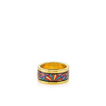 Le Carrousel Exotique Kaitlin Hand Painted Enamel Ring - US