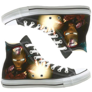 Ironman painted shoes, custom shoes by natalshoes
