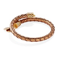 Copper Metallic Leather Wrap
