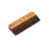 Wooden Whisker Comb