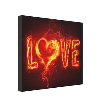 Flaming Love Canvas Print