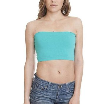 Excess Baggage Women's Basic Teal Bandeau