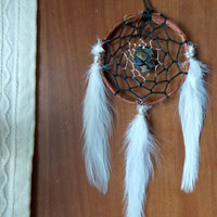 Boho Dream Catcher with Abalone Sea Shell for Car Rear View Mirror