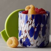 Painted Glass Food Storage Container by Anthropologie