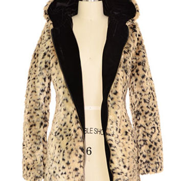 Nightly Prowl Hooded Fur Jacket - PLASTICLAND
