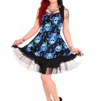 Eternal Rest Skulls & Roses Dress - PLASTICLAND
