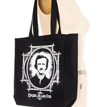 Edgar Allan Poe Remembrance Tote Bag - PLASTICLAND