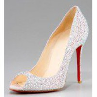 Christian Louboutin Crystal-Encrusted Suede Pump $272,christianlouboutin,namely red bottom shoes,discount louboutins