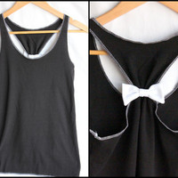 Workout Clothes Bow Racerback  - Medium