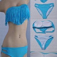 Bandeau Fringe Top Bikini Set from CherryKreations21