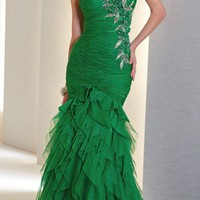 Alyce Black Label Green Evening Dress 5488 - Alyce Black Label Dresses - Shop Dresses by Designer
