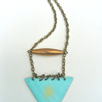 prototype triangle necklace