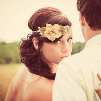 harvest wedding, woodland vine crown 'QUEEN of the WOODS' bridal hair accessory