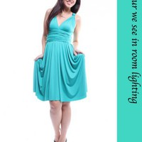 MLB's Convertible Dress – Turquoise