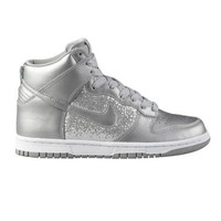Womens Nike Dunk High Athletic Shoe, Silver/White, at shi by Journeys