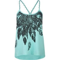FULL TILT Feather Womens Lace Back Tank 199122523 | Graphic Tees &amp; Tanks | Tillys.com