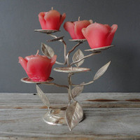 Flower Branch Candle Holder
