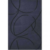 Acura Rugs Contempo Dark Blue / Black Contemporary Rug - CT-119 - Blue and Purple Rugs - Area Rugs by Color - Area Rugs