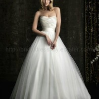 Simple Ball Gow Tulle Cheap Wedding Dress