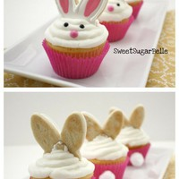 Foodie / The Sweet Adventures of Sugarbelle: Bunny Ear Cupcake Toppers