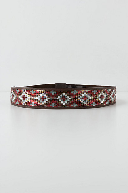 Crossed Beads Belt