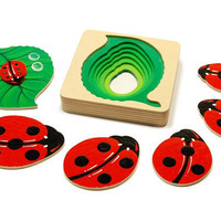 The ladybug wooden toy