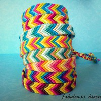 Chevron Friendship Bracelets (choose your colors!!!)  by Fabulouss Bracelets