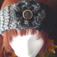 Black Gray Brown Ultra Soft Boho Womens Knitted Headband Ear Warmer