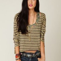 FP Beach Easy Out Stripe Tee at Free People Clothing Boutique