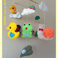 Hanging Mobile Near the pond Custom order available by hingmade