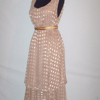 Vintage Gold Flowy Layer Dress