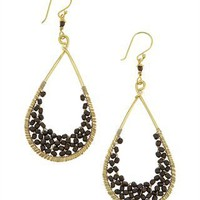 CUSP | Accessories | Jewelry | Earrings | Pyrite Beaded Teardrop Earrings