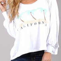 Wildfox California Sweater in White