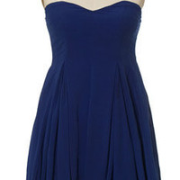 Blue Note Strapless Dress