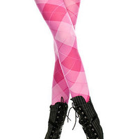 Sexy Womens New Pink Argyle Pantyhose Tights Leggings Nylons