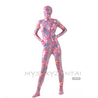 Catsuits & Zentai Halloween Full Body Fancy Dress Lycra Spandex Zentai Suits Flowers Pink Cosplay Costumes [L20120828] - $44.85