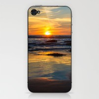 Sunset on Whipsiderry Beach iPhone & iPod Skin by John Dunbar | Society6