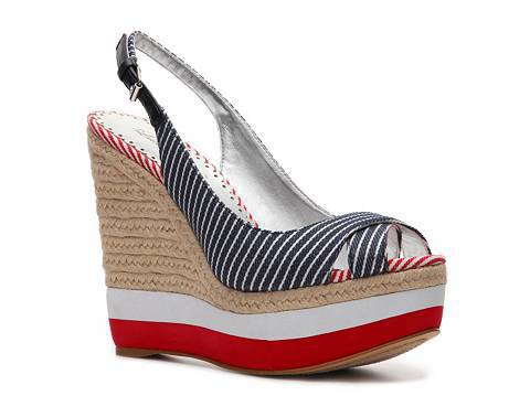 Lulu Townsend Valora Stripe Wedge Sandal