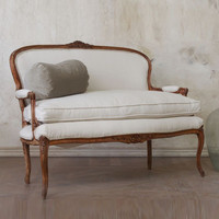 Antique Darling Canvas Settee c 1930s - &amp;#36;1765 - The Bella Cottage
