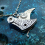 Mechanical Bird Pendant Silver Jay Elegant by amechanicalmind