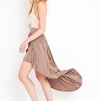 Long Tail Skirt - Mocha - NASTY GAL