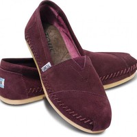TOMS+ Wine Sitka Women's Moccasin Classics