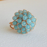 Blue Berry Step Ring [3177] - $16.00 : Vintage Inspired Clothing &amp; Affordable Summer Dresses, deloom | Modern. Vintage. Crafted.