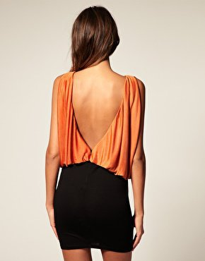 ASOS | ASOS Jersey Dress with Low V Back at ASOS