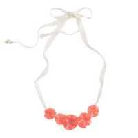 Girls' flower and ribbon necklace