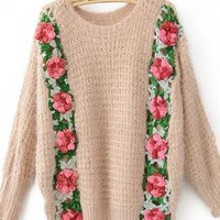 Beautiful Garden Rosette Sweater